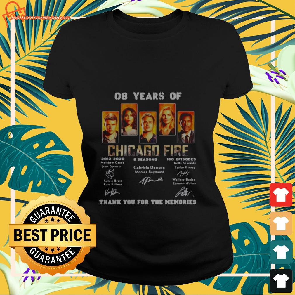 08 years of chicago fire signature Ladies tee
