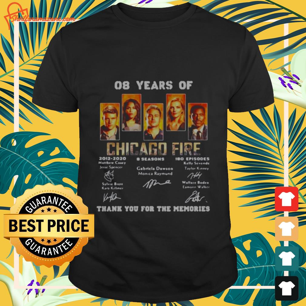 08 years of chicago fire signature T shirt