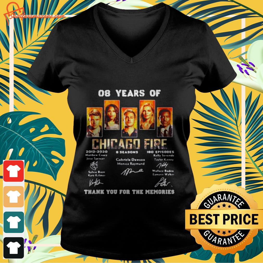 08 years of chicago fire signature V neck t shirt