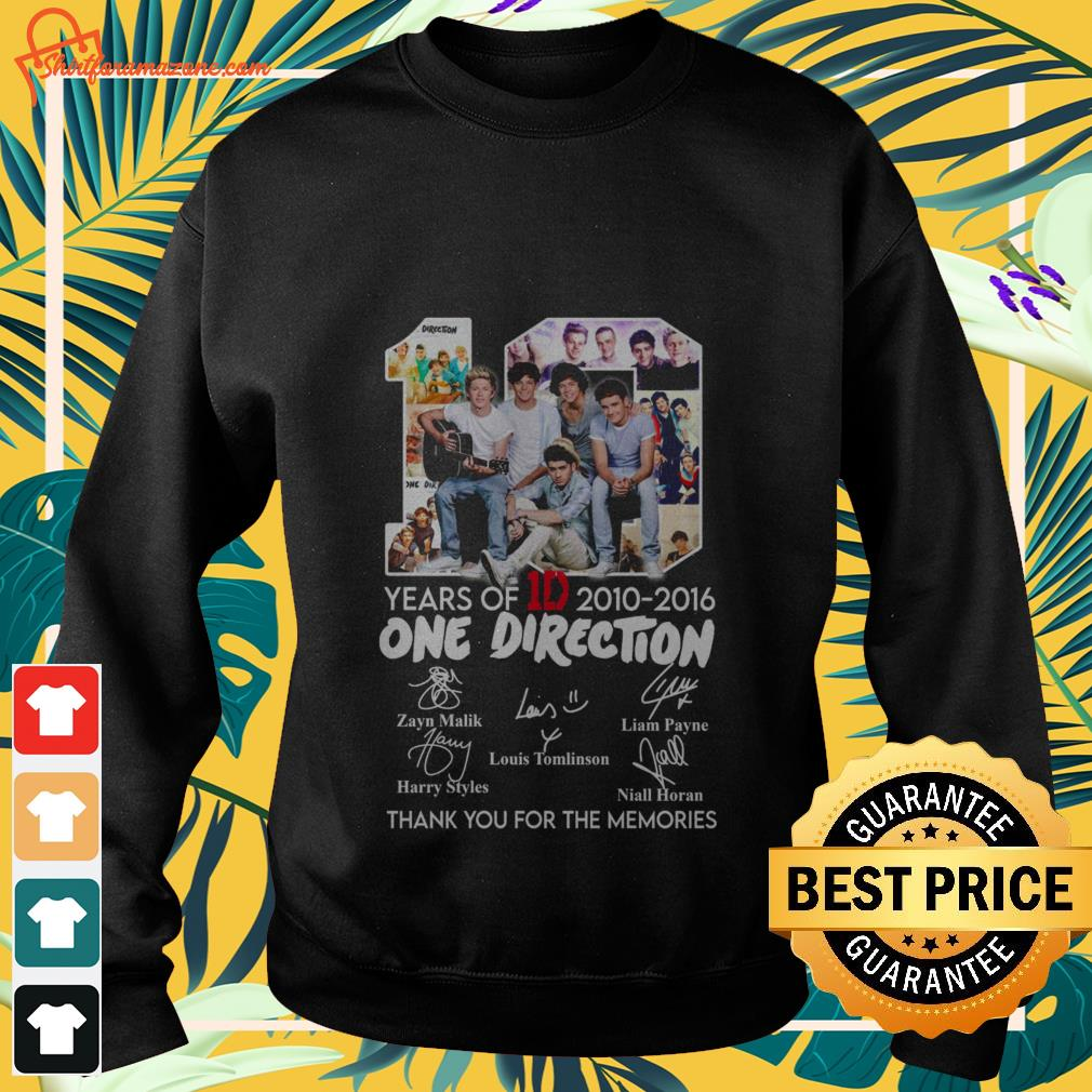 10 years of 1d 2010 2016 one direction thank you for the memories Sweater 2