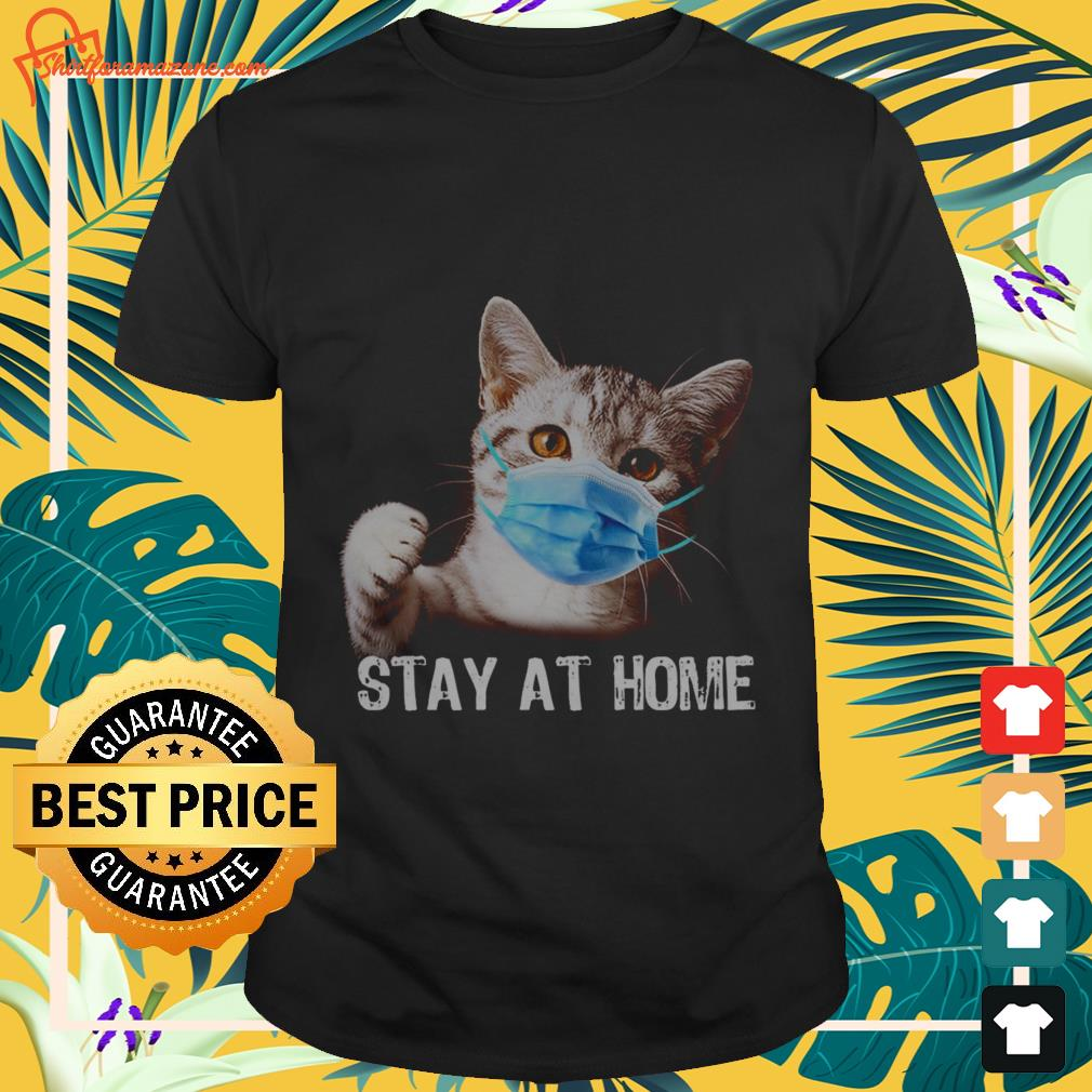 cat stay at home T shirt