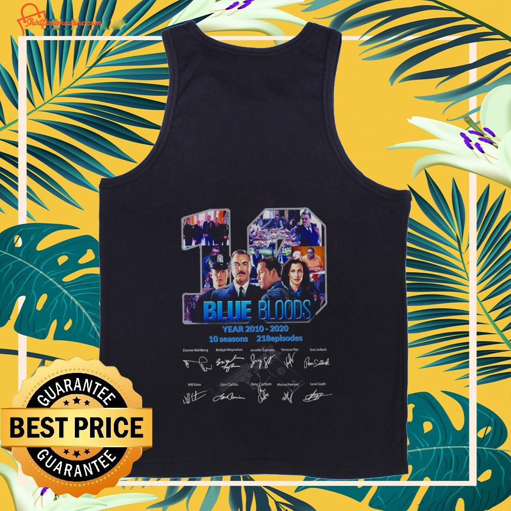 19 blue bloods years 2010 2020 10 seasons 218 episodes signature Tank top