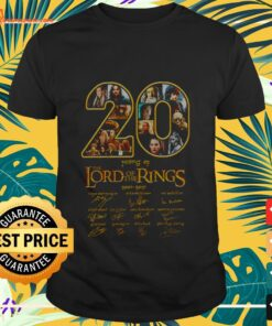20 years The Lord of the rings shirt