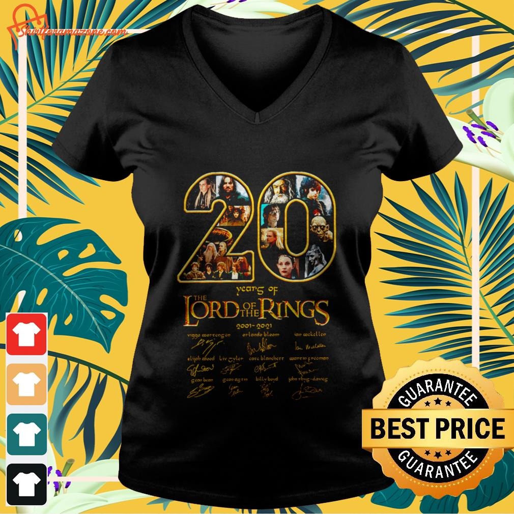 20 years The Lord of the rings v-neck t-shirt