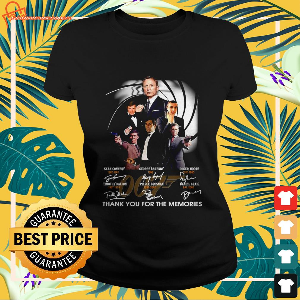 007 signature thank you for the memories ladies-tee