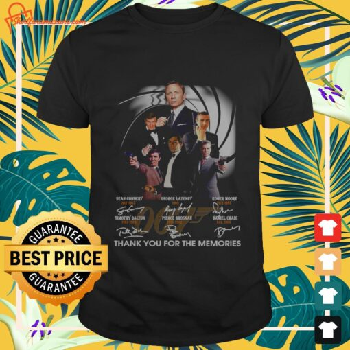 007 signature thank you for the memories shirt