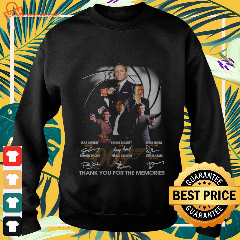 007 signature thank you for the memories sweater