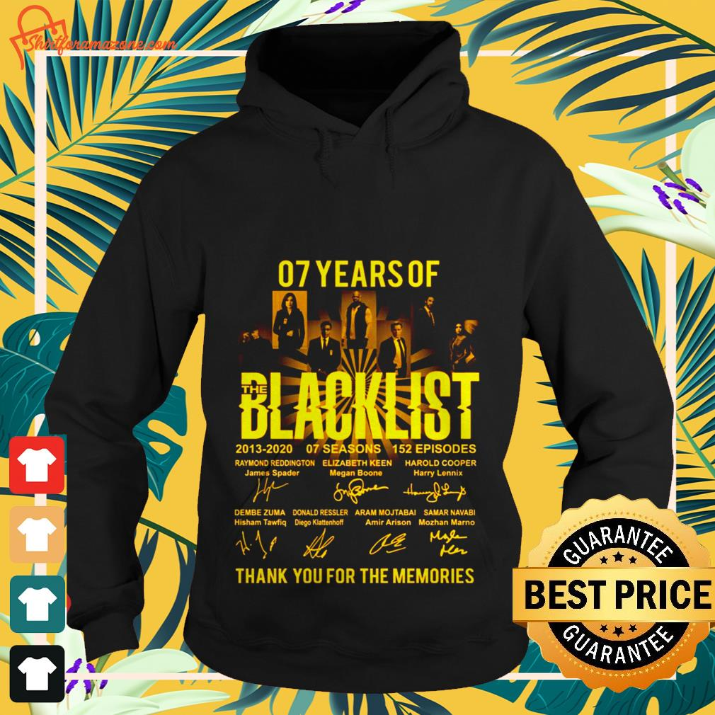 07 years The Blacklist thank you for the memories hoodie