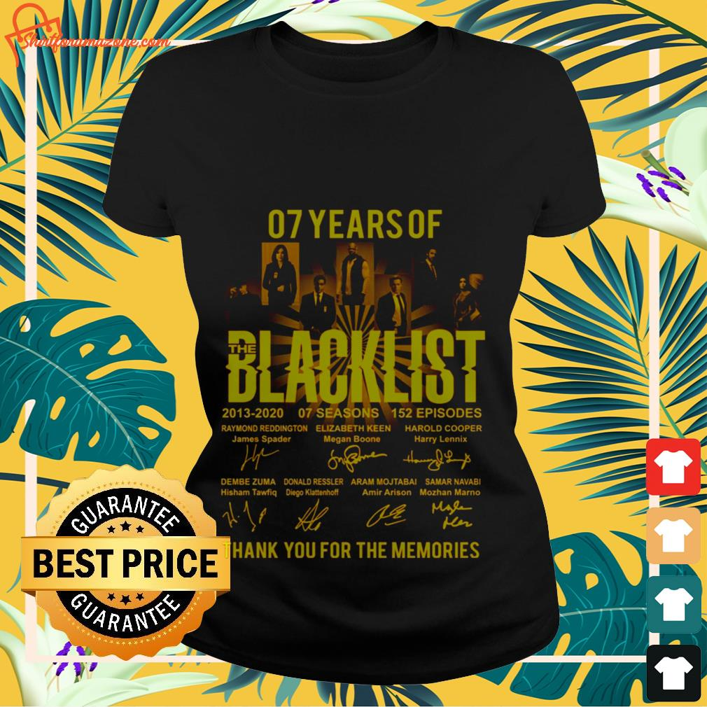 07 years the blacklist thank you for the memories Ladies tee