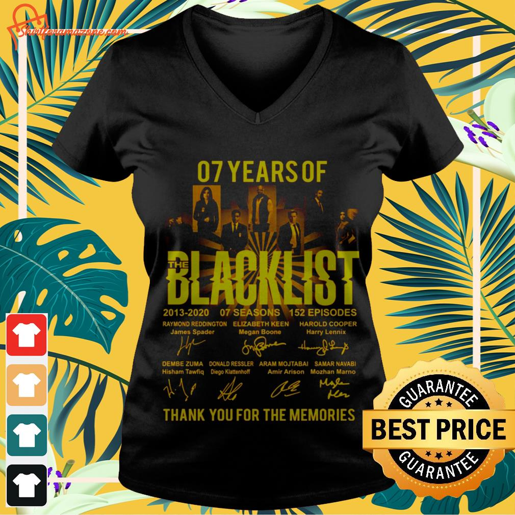 07 years The Blacklist thank you for the memories  v-neck-tee-shirt