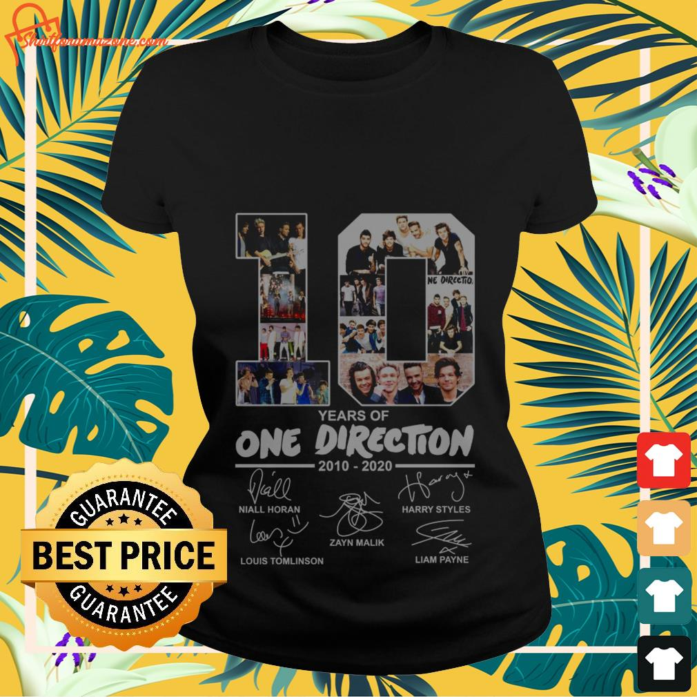 10 years of One Direction 2010 2020 signatures LAdies-tee