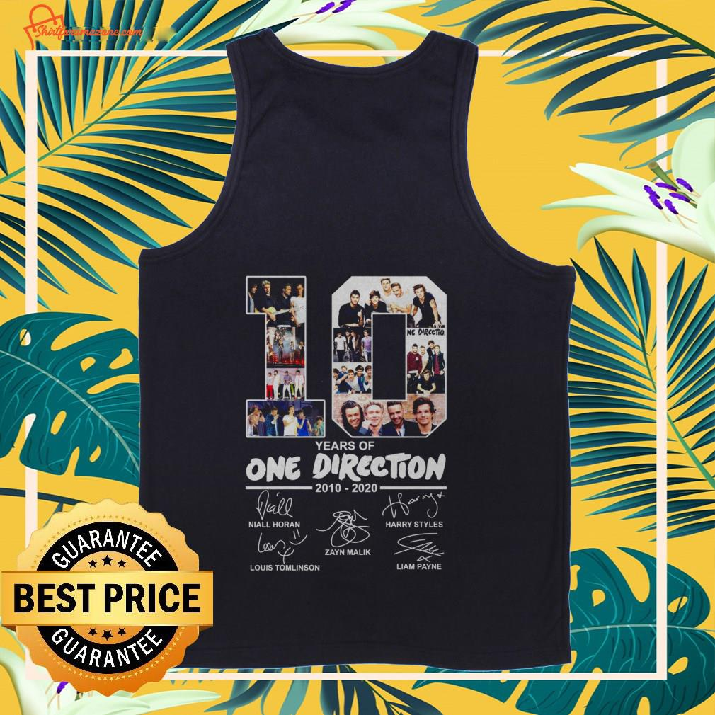 10 years of One Direction 2010 2020 signatures Tank-top