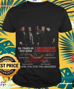 50 years of 1970 2020 Aerosmith thank you for the memories signatures shirt