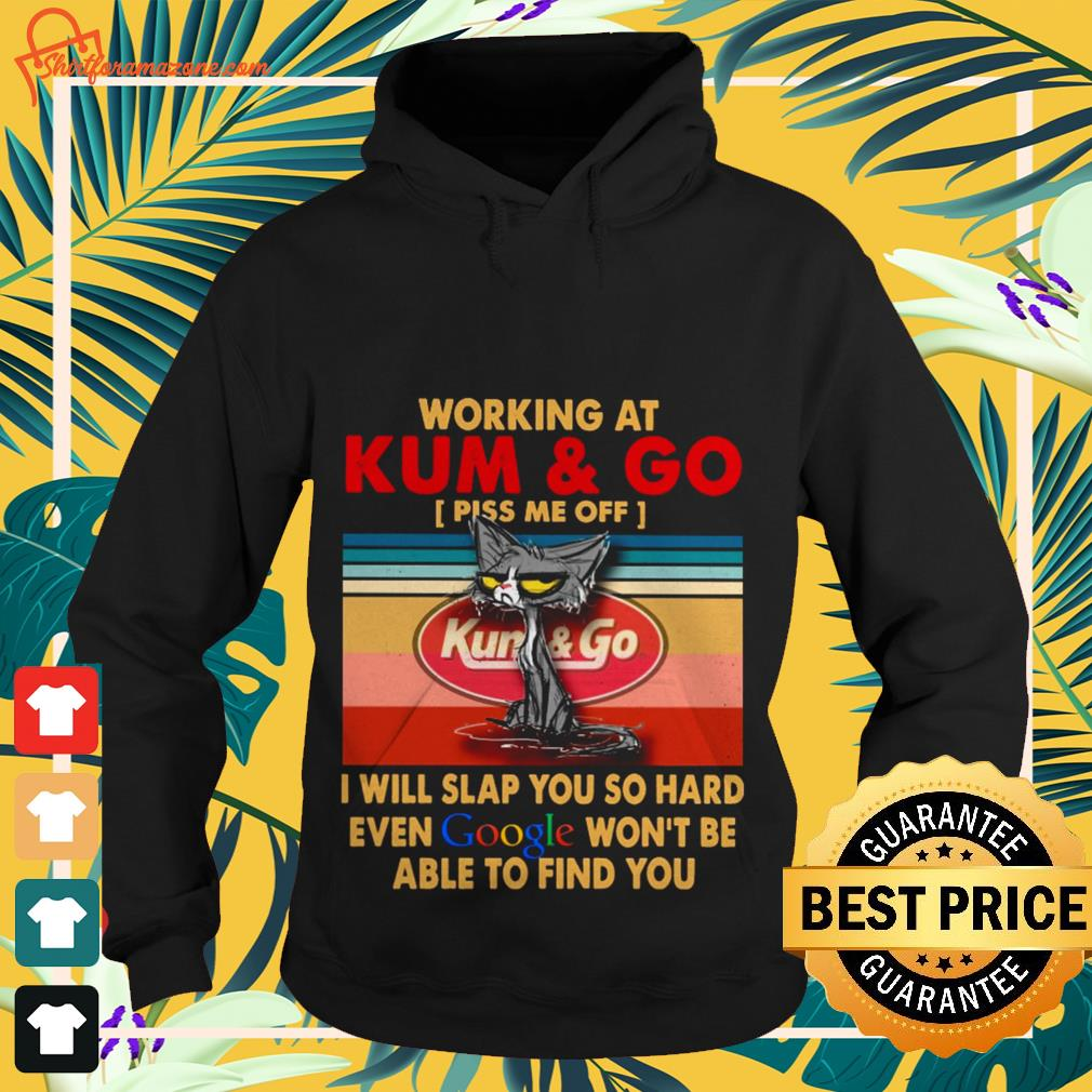 Working at kum and I will slap you so hard even google vintage Hoodie
