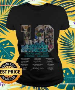 10 Hawaii Five-O years 2010-2020 10 seasons 240 episodes signatures Ladies-tee