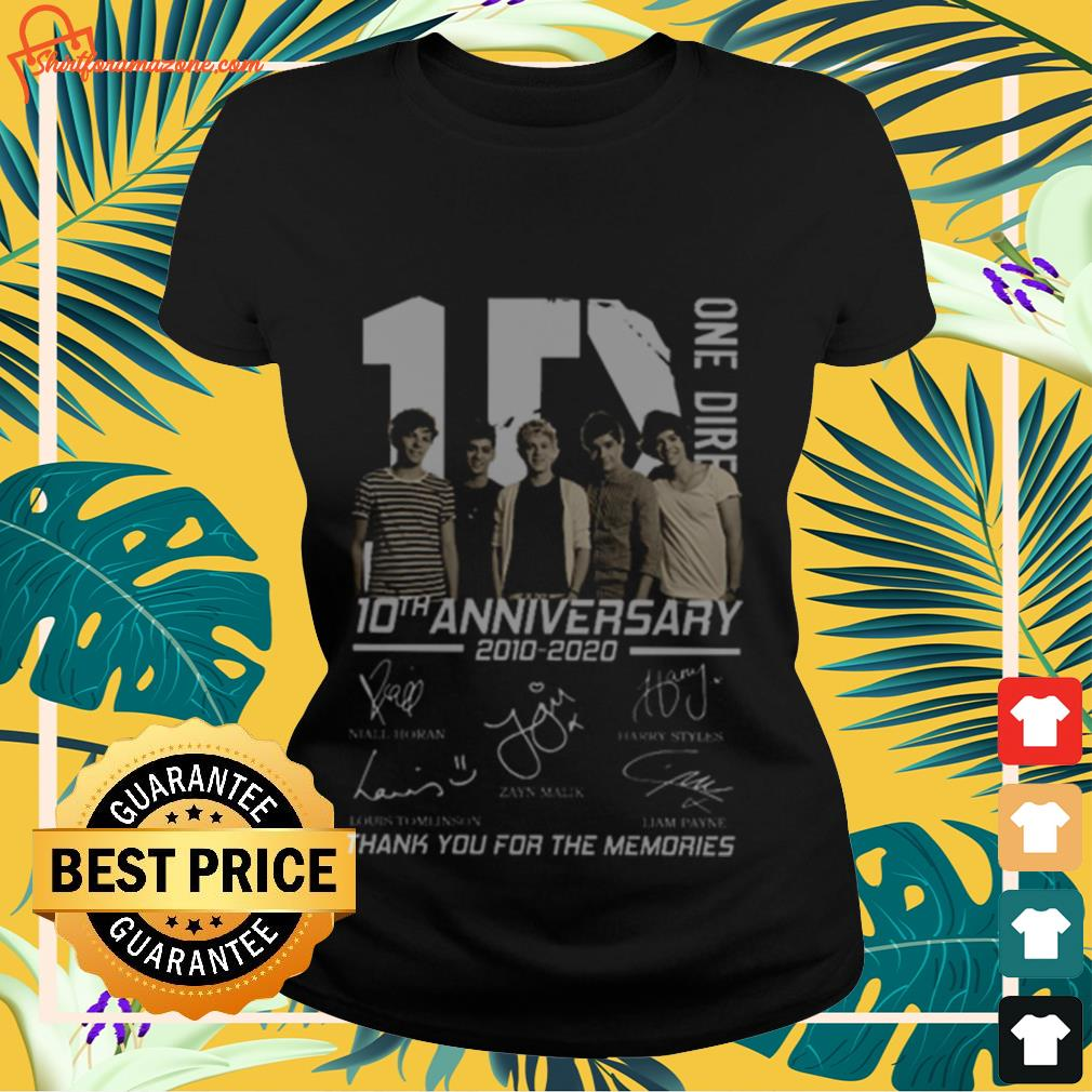 10 One Direction 10th anniversary 2010 2020 signatures Ladies-tee