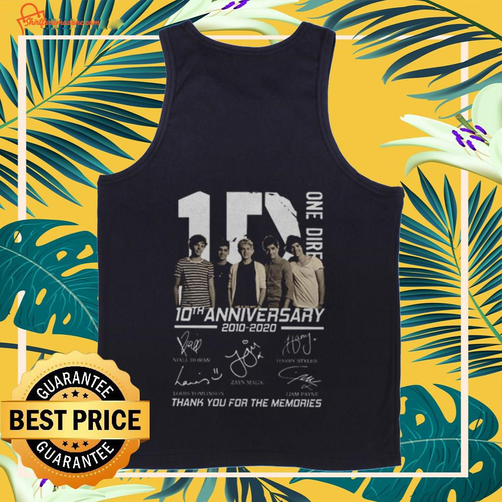 10 One Direction 10th anniversary 2010 2020 signatures Tank-top