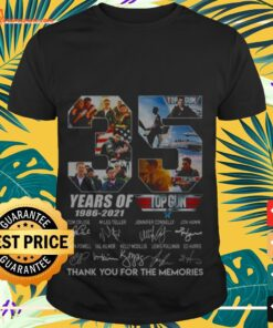 35 years of 1986 2021 Top gun thank you for the memories signature shirt