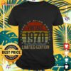 50 years of being awesome vintage 1970 limited edition shirt