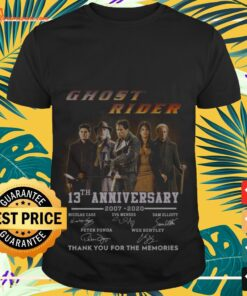 Ghost rider 13th anniversary 2007 2020 thank you for the memories shirt