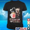Jason Voorhees chibi Friday the 13th the game no coffee no workee t-shirt