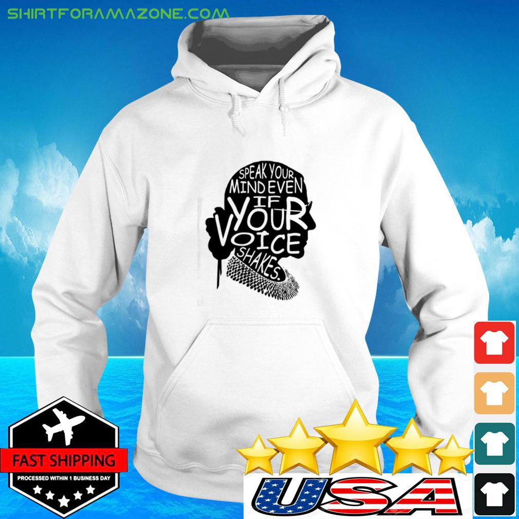 Simple Woman Speak your mind even if your voice shakes hoodie