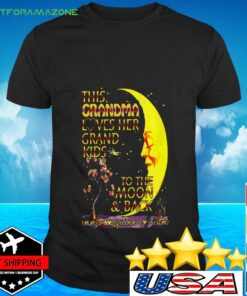 This grandma loves her grandkids to the moon and back t-shirt