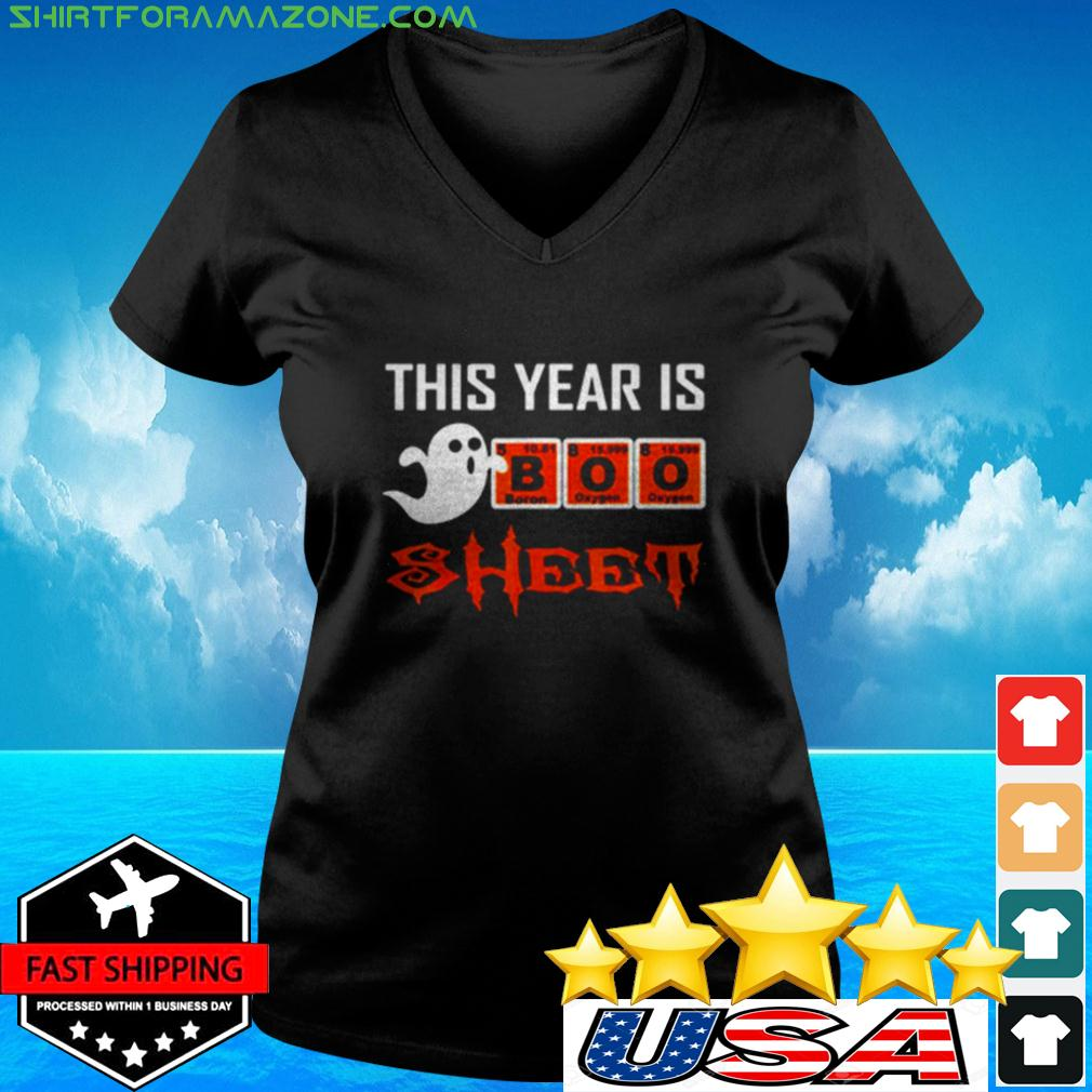 This year is Boo sheet Halloween v-neck t-shirt
