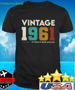 Vintage 1961 59 years of being awesome t-shirt