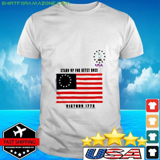 Vintage betsy ross 4th of july american flag 177 t-shirt