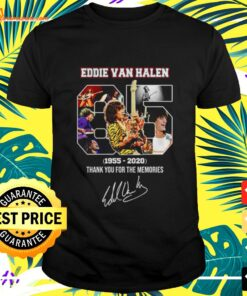 Eddie Van Halen 1955-2020 thank you for the memories t-shirt