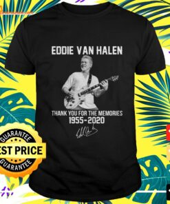 Eddie Van Halen thank you for the memories 1955 2020 signature t-shirt