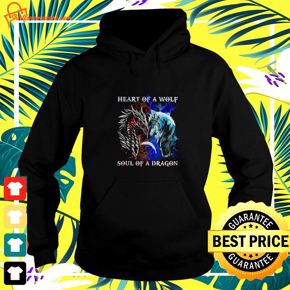Heart of a wolf and soul of a dragon hoodie