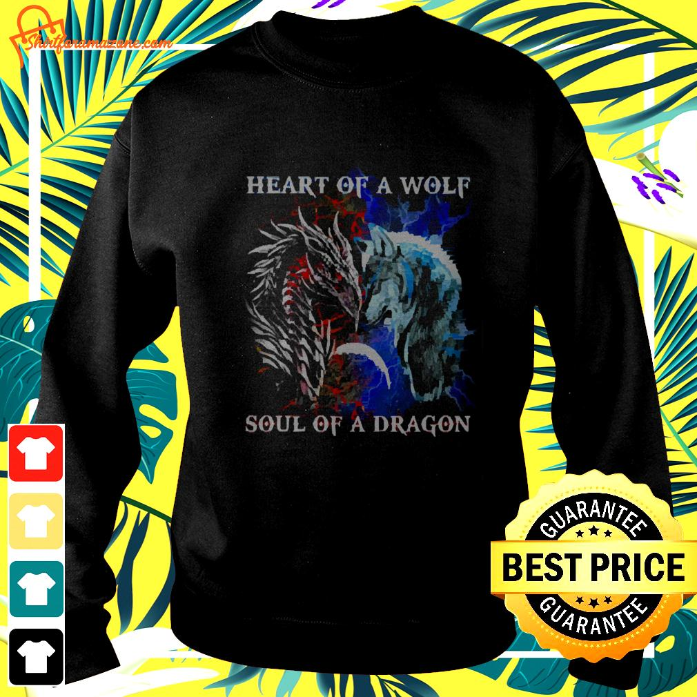 Heart of a wolf and soul of a dragon sweater