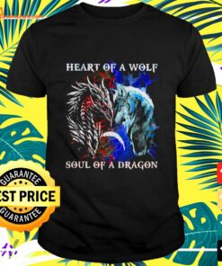 Heart of a wolf and soul of a dragon t-shirt
