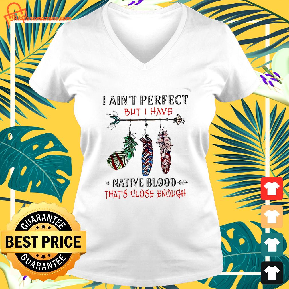 I ain't perfect but I have native blood that's close enough v-neck t-shirt