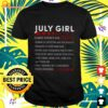 July girl facts is most known for t-shirt