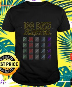100th Day of School 100 Days Smarter Light Star t-shirt