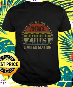 12 Year Old Gifts Vintage 2009 Limited Edition 12 t-shirt