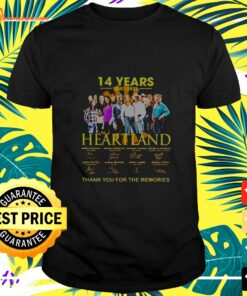 14 Years 2007-2021 Heartland Thank You For The Memories Signatures t-shirt