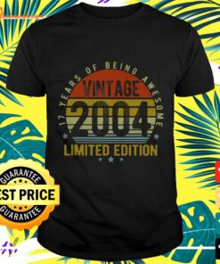 17 Year Old Vintage 2004 Limited Edition 17th t-shirt