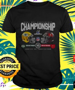2021 NFC Conference Championship Packer and Buccaneers t-shirt