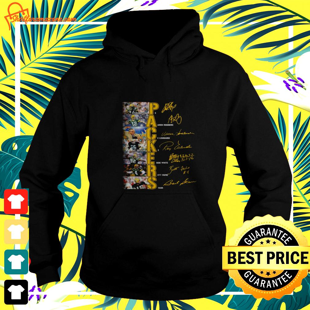 Green Bay Packers players signatures version hoodie
