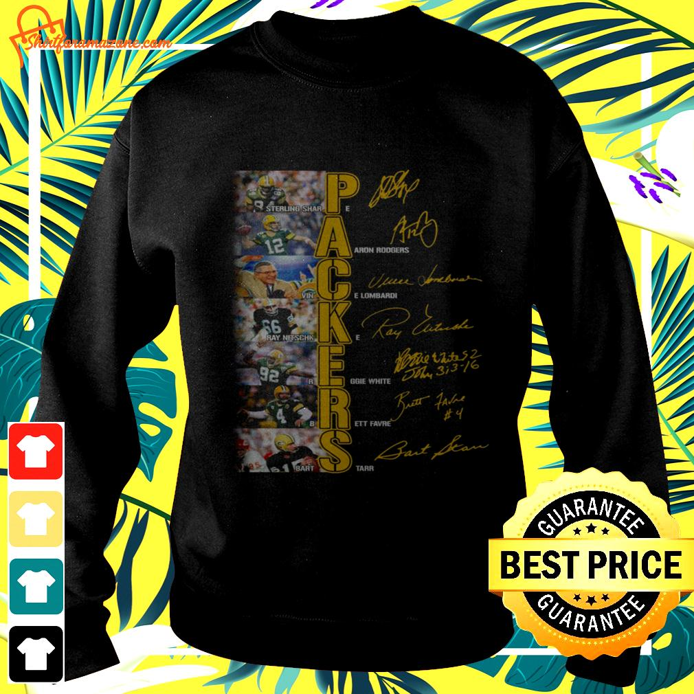 Green Bay Packers players signatures version sweater
