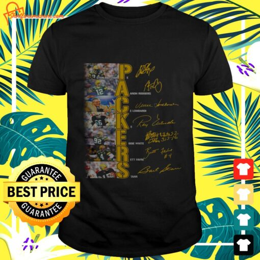 Green Bay Packers players signatures version t-shirt