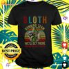 Sloth running we'll get there when we get there vintage t-shirt