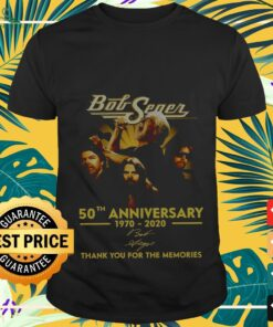 bob seger 50th anniversary 1970 2020 thank you for the memories T shirt