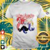 fireworks the little mermaid 4th of july independence day T shirt