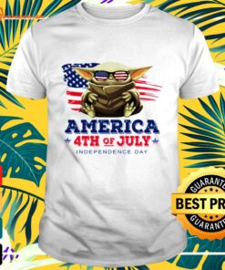 Baby Yoda America 4th of July Independence day t-shirt