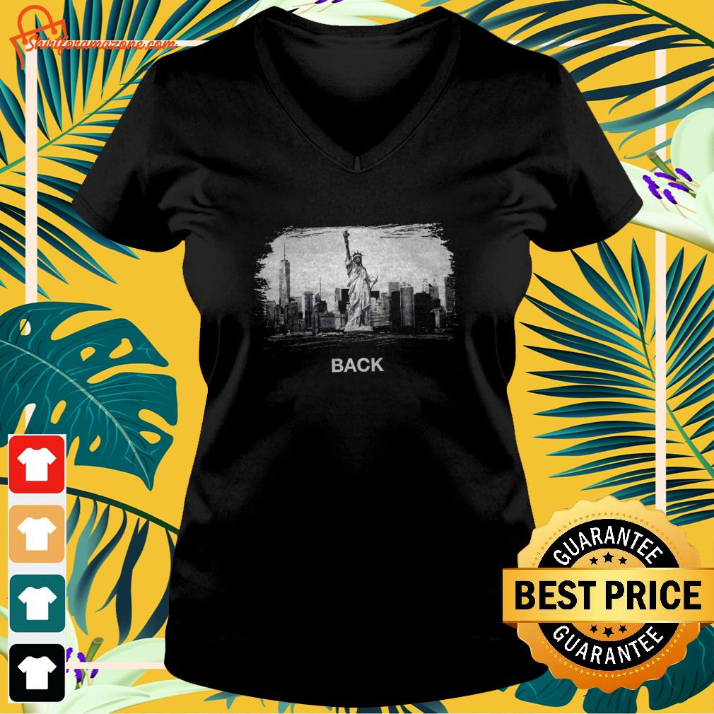 Statue of Liberty National Monument NYC back v-neck t-shirt